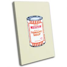 Tesco Soup Can Banksy Painting - 13-1597(00B)-SG32-PO